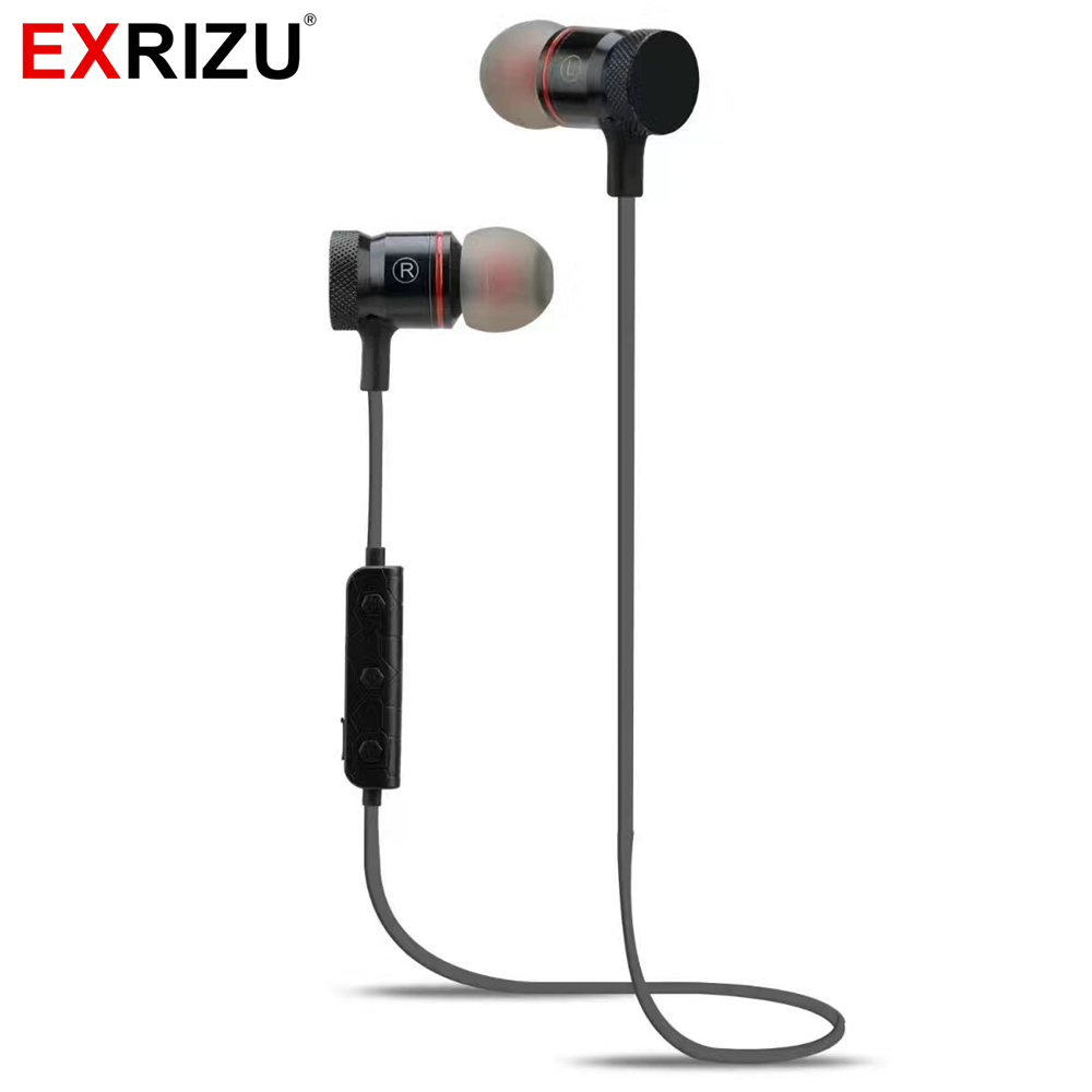 EXRIZU M90 Wireless Bluetooth Headset Music Audio Sport In-ear Noise Cancelling Earphone Micro USB Port for Phone Fitness Run fpv 1 2ghz 100mw 4ch wireless audio