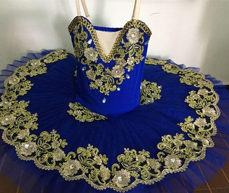 Bleu professionnel Ballet Tutu filles gymnastique danse robe adulte cygne lac Costume Ballet justaucorps pour femmes enfant Ballet robe