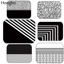 Hongbo Black White Geometric Anti-Slip Carpet Door Mat Doormat Outdoor Kitchen Living Room Floor Rug 40*60cm