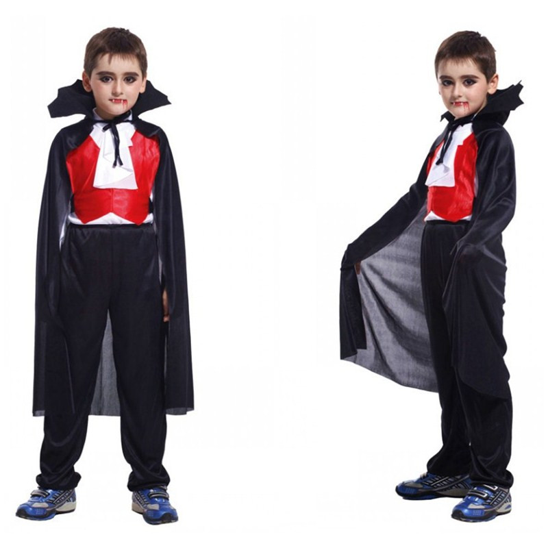 Kids Boys horror Tricky Vampire Cosplay Children's day Easter Halloween Costumes Stage performance Rave party Carnival dress