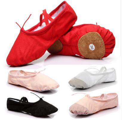 Canvas Ballet Shoes For Dancing Pointe Dance Shoes For Girls Ballet Sneaker For Kids Children Dance Ballet Slippers Shoes B01
