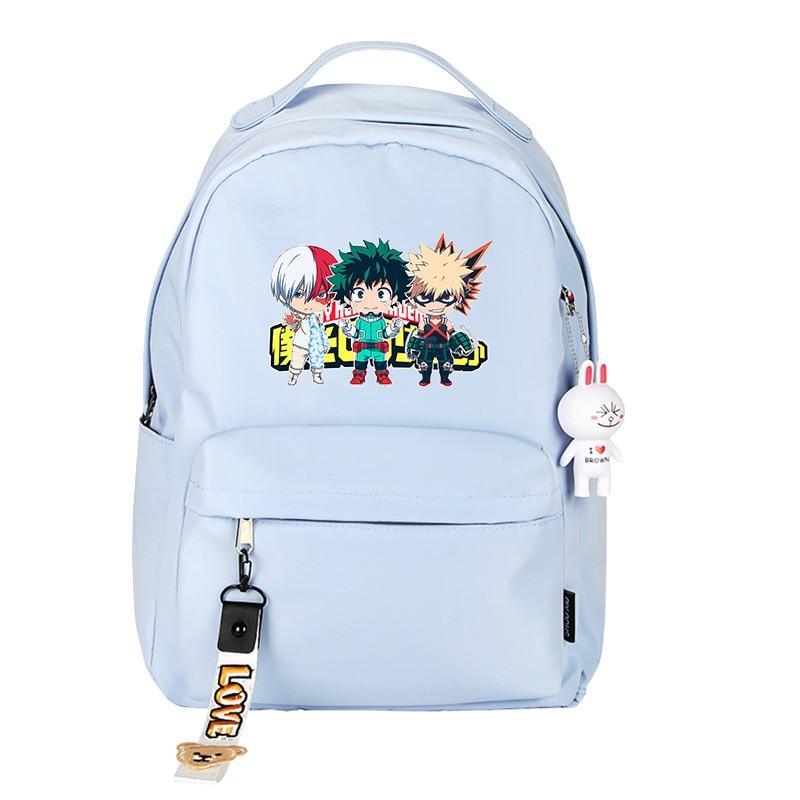 My Hero Academia Midoriya Izuku Cosplay Women Backpack Kawaii School Bags Waterproof Travel Backpack Anime Laptop Bagpack Rugzak