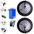 Двойной привод 8 ''24-48 v 250-350w шины 8x2. 00-5 BLDC Электрический мотор колеса инвалидной коляски Электрический велосипед концентратор мотор конверс...