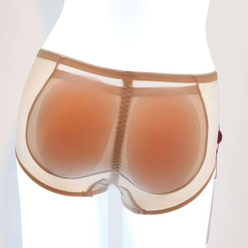 Woman Padded Silica Gel Panties Butt Lift Booty Enhancer Fake Buttocks Pads Hip Ass Lady Sexy Underwear Black Beige AD0615(China)