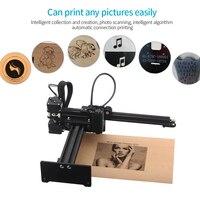 3500mw Desktop CNC Laser Engraver Carving Machine Mini Carver DIY Laser Logo Mark Printer with Protective Glasses Working Area
