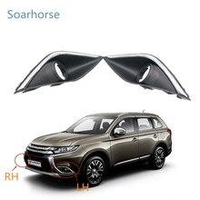 Soarhorse автомобильный хромированный противотуманный светильник на передний бампер, рамка противотуманной фары для Mitsubishi Outlander