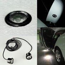 Миниатюрный водонепроницаемый светодиодный автомобиль зеркало заднего вида вниз свет 12 в зажим для автомобиля панели двери автомобиля Добро пожаловать свет бампер дальнего света