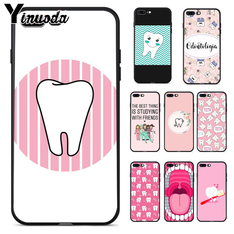 Babaite Nurse Doctor Dentist Stethoscope Tooth Injections Phone Case For Iphone 8 7 6 6s Plus X Xs Max 5 5s Se Xr Mobile Cases Phone Bags & Cases Half-wrapped Case