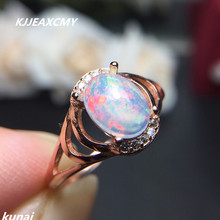 цена KJJEAXCMY Fine jewelry, Multicolored jewelry 925 silver inlay natural opal live female ring factory wholesale онлайн в 2017 году