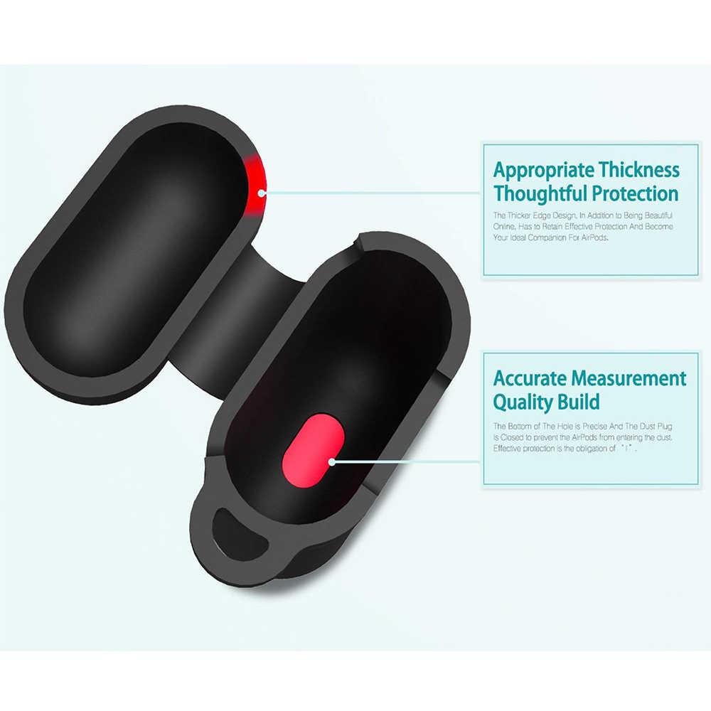 Tampa Da Caixa de Proteção Para Airpods Ascromy Maçã fone de Ouvido Sem Fio de Carregamento da Caixa Alça Chaveiro Plugue Poeira Para Acessórios Airpod