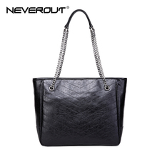 NEVEROUT Real Genuine Leather Casual Handbags for Women Bag Large Shoulder Bag Ladies Top-Handle Bags Shopping Handbag Totes цена в Москве и Питере