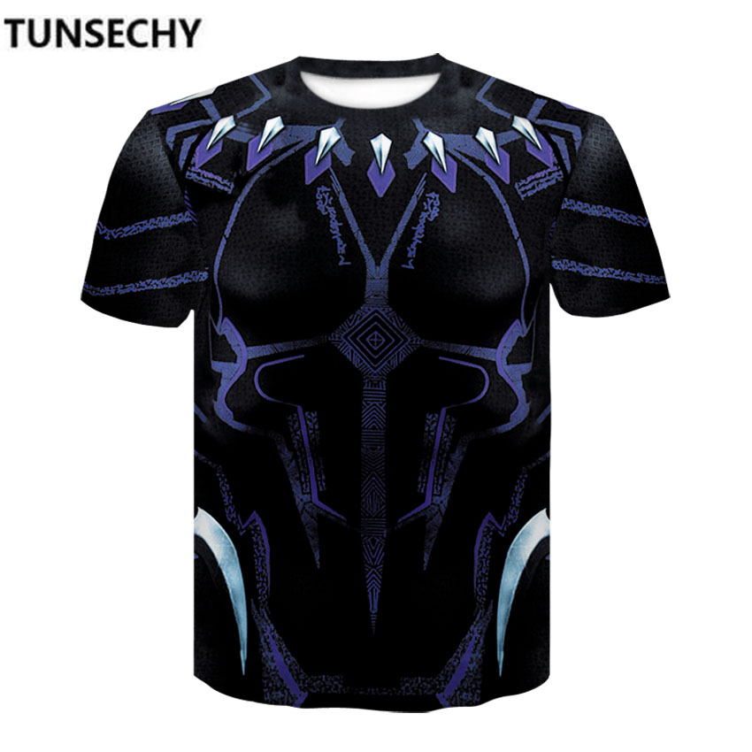 TUNSECHY Black Panther Compression Shirts 3D Printed T shirts Men 2018 Summer NEW Crossfit Tops For Male Fitness Clothing