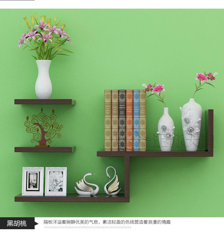 A    Modern Wall-Mount Book Shelf Wall Bookshelf Bookshelves Bookcase Storage Supporter Commodity Shelf