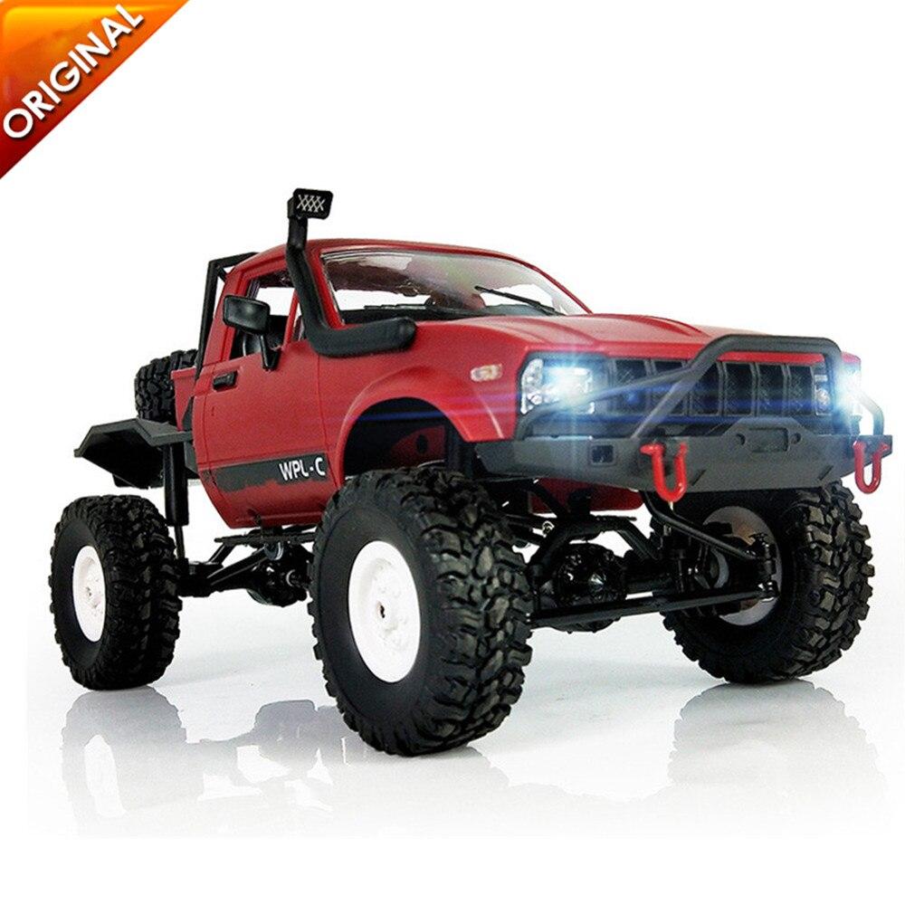 Plus récent WPL C14 1:16 RC camion 1:16 Hynix 2.4G Mini voiture télécommandée tout-terrain 15 km/h vitesse de pointe Mini RC Monster Truck 4WD RTR/KIT