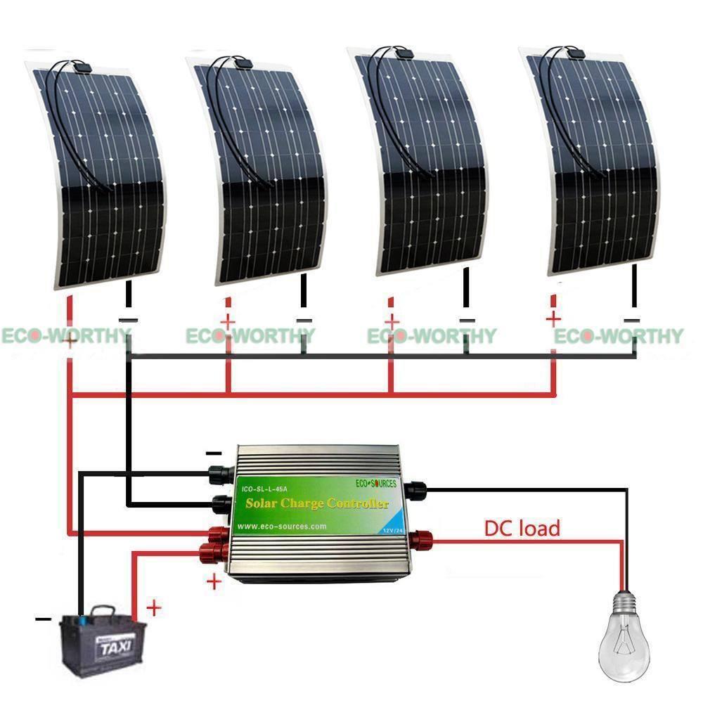 400W 2X100W mono flexible solar panel with 45A Solar Power Controller solar module energy Roof Camper RV Yacht