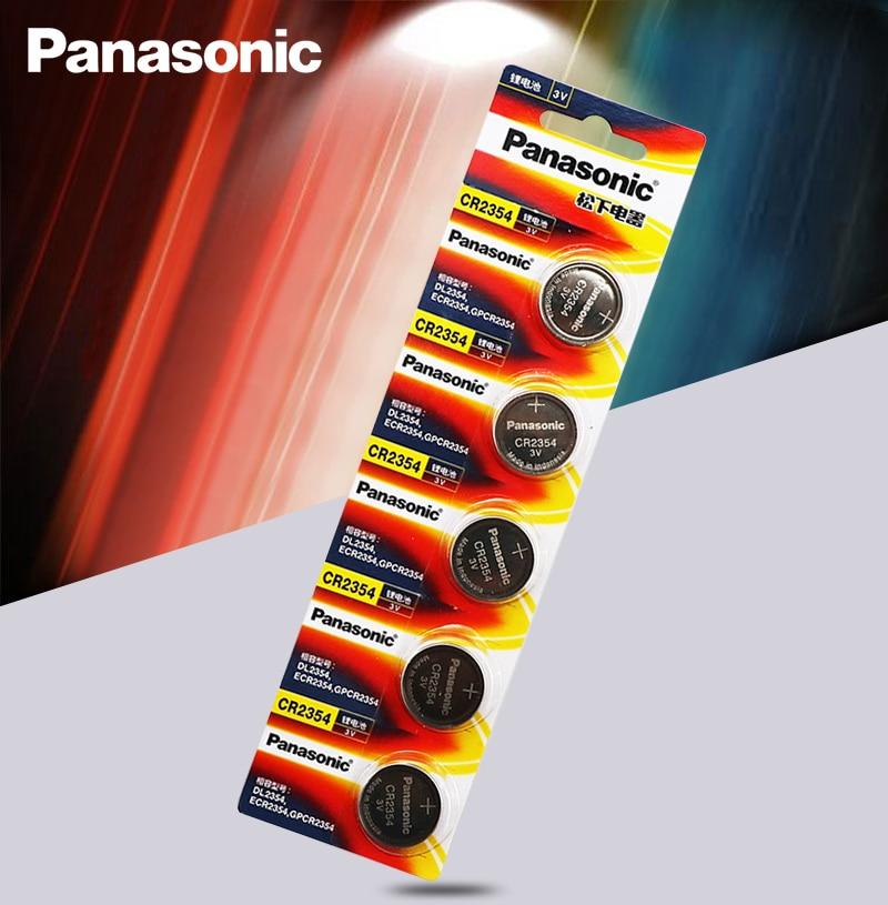 5 шт./лот, оригинальный аккумулятор, Автомобильный Дистанционный ключ Panasonic, 3 в, литиевая батарея CR2354, кнопочный аккумулятор, инструмент и сч...