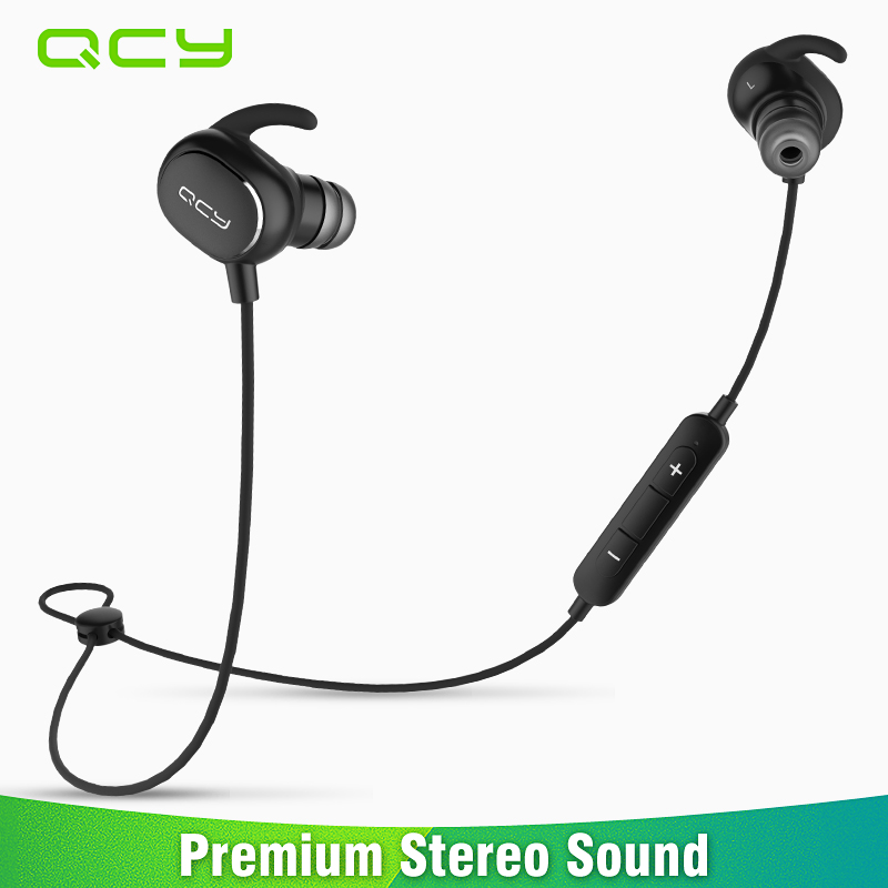 2017 QCY QY19 wireless sports headphones IPX4 sweatproof bluetooth running earphone in-ear headset gamer built-in microphone