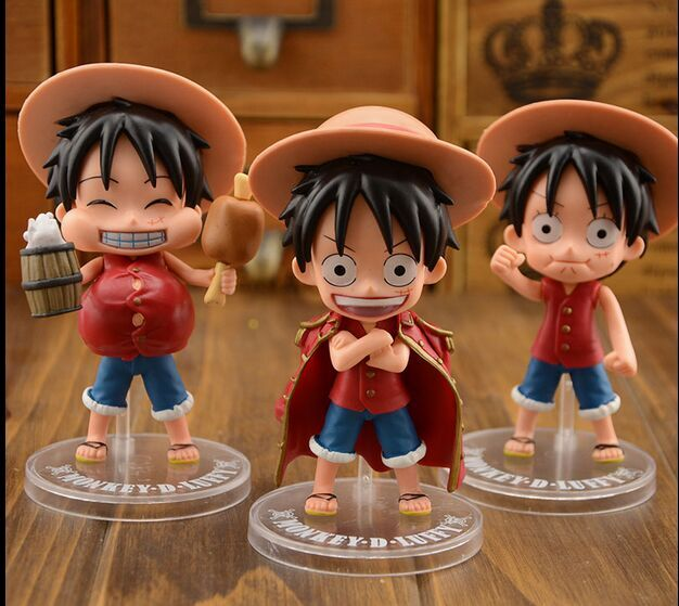 9cm Cute One Piece Monkey D Luffy Portgas D Ace Sabo Action Figure Three Brothers Pvc Anime Figures Collectable Model Toys Wx300 Attractive Fashion Toys & Hobbies