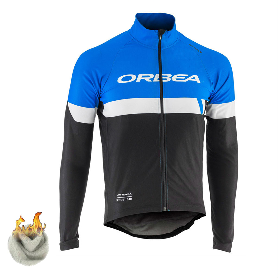 2017 Preto Azul ORBEA Equipe Inverno Velo Térmica Ropa ciclismo Maillot Bicicleta Roupas Quentes Jersey Ciclismo Quick Dry