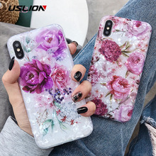 USLION Bling Dream Shell Silicone Phone Case For iPhone X XR