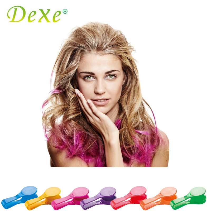 Dexe Temporary Hair Color Chalk Powder Beauty Gaga Halloween Party Makeup Disposable DIY Super Hair Dye Colorful Styling Kit 9
