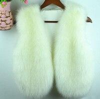 Spring and autumn fox fur vest women's outerwear short design vest fox fur outerwear hot selling fur