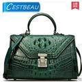 Thai real crocodile handbag female 2016 new leather lady worn single shoulder women bag Europe and the United States