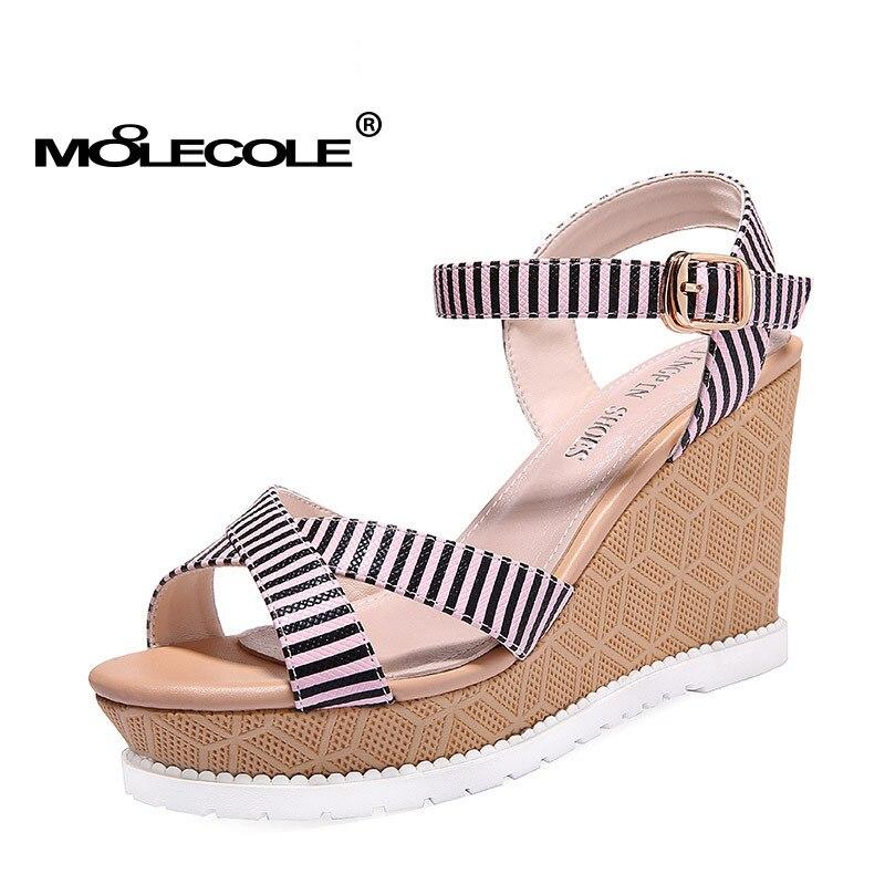 Moolecole Girlfriend Gift Ladies Pumps Women Latest Sandals Woman Lady Stripe Fashion Shoes Heel 9 5cm Size Eur35 39 Model 70121 Fashion Heels Heels Fashionshoe Heel Aliexpress