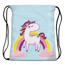 Cartoon Unicorn and Rainbow Printed Bag