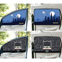 Batman Solar Car Cover Cartoon Car Curtain Sunshade Curtains Cute With Magnetic Side Window Car Window