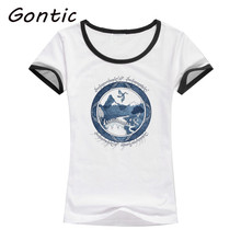 цены на t shirt femme summer women T-shirt THERE AND BACK AGAIN white color plus size couple clothes vintage t shirt short sleeve wear в интернет-магазинах