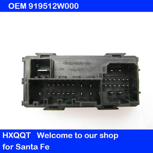 for ix45 santa fe 2013 2018 ems junction box ems block engine compartment fuse box unit oem 919512w000 91951 2w000 Trailer Fuse Box