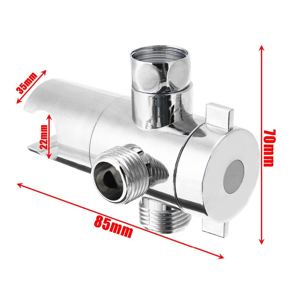 3 Way Shower Head Holder Fix Bracket Bathroom Shower Head Diverter Sprayer Arm Mount 3 Way Valve  For Toilet Bidet Shower