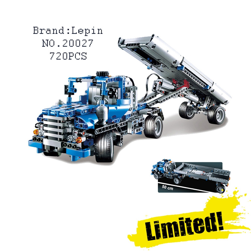 Lepin 20027 720Pcs Technic Mechnical Series The Container Truck set car-styling Building Blocks Bricks Toys for Children Gifts 720pcs techinic 2in1 motorized container