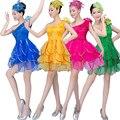 5 Цвета Lady Девушки Бальные Джаз танцевальная одежда костюмы женщин латинской хип-хоп сцена танцы dress костюмы S-XXXL