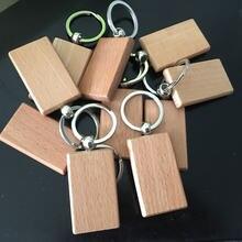 10 шт деревянный брелок для ключей