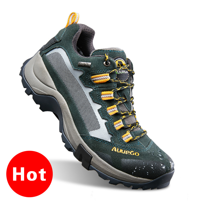 Hot Hiking shoes Autumn And Winter Waterproof non slip Outdoor Trekking Boots Lace up Climbing men