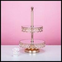 1 PCS Multi layer golden cake shelf European dessert table display stand decoration wedding props cake plate dessert tray