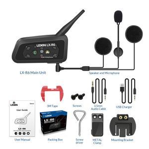 Гарнитура для шлема LEXIN 1200M с Bluetooth, Водонепроницаемая беспроводная гарнитура для мотоциклетного Интерком, Bluetooth, мото BT