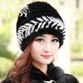 2016 New Genuine Knitted Mink Fur Hat For Women's Real Fur Cap Winter Ladies Beanies Warm Headgear Natural Fur Hats Female Caps