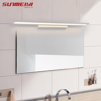 Morden Anti fog Waterproof Acrylic Mirror Light LED Bathroom Wall Lamp Brief Indoor Lighting Fixtures Sconce for Home Bed