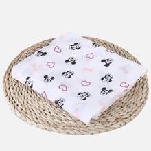 100% Muslin Cotton Blankets Cartoon Unicorn Patterns Multi-use Newborn Swaddle Muslin Infant Gauze Both Towel Baby Warp