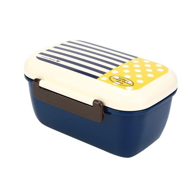 950 мл Коробки для обедов Новый Портативный Коробки для обедов PP милые сухой паек посуда микроволновая печь Коробки для обедов # GH40