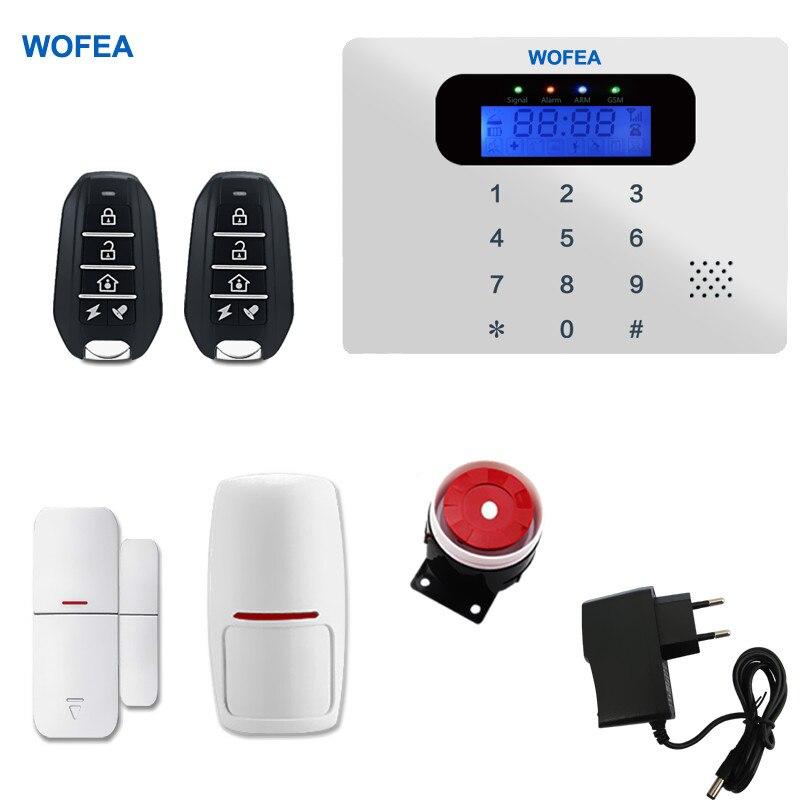 bilder für Original WOFEA Super Dünne Berühren GSM Alarmanlagen Android IOS APP Alarme Home Security System