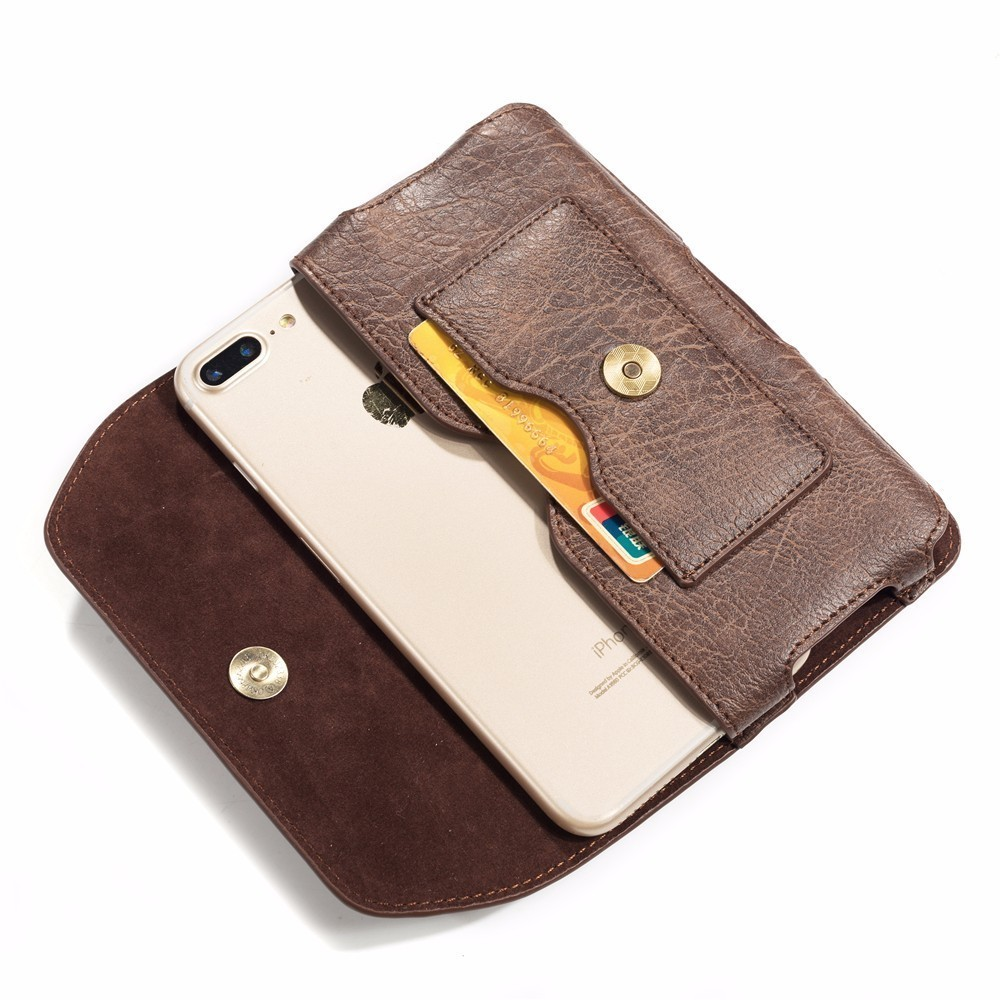 Leather Holster Pouch Case with Belt Clip,Leather ID Wallet For <font><b>Ginzzu</b></font> S5050 S5040 S5140 <font><b>ST6040</b></font> Flycat Optimum 5501 Optimum 5004 image