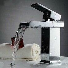 BAKALA robinet de salle de bains à poignée unique   Robinets mélangeurs de lavabo en cascade, mitigeur de lavabo de lavabo, robinet de lavabo de salle de bains