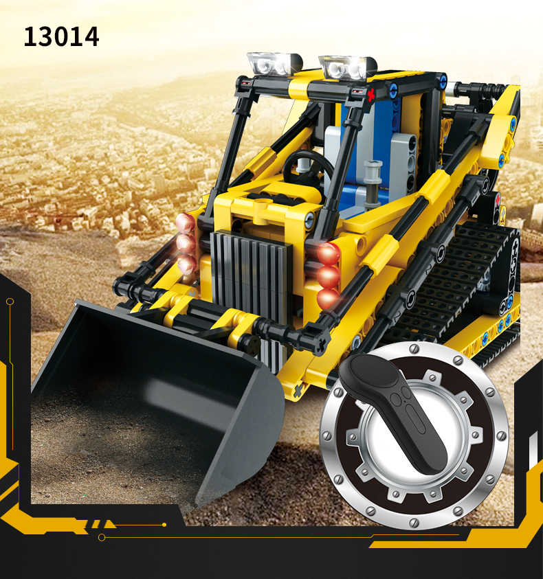 389-537PCS DIY Dumper Truck Building Blocks Car Technic Mechanical Power Bulldozer Construction Toys For Boys Children 35