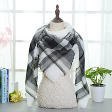 Top quality Winter Scarf Plaid Scarf Designer Unisex Acrylic Basic Shawls Women's Scarves hot sale