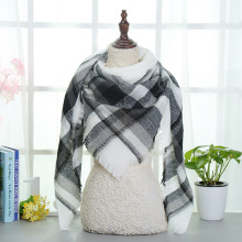 Top quality Winter Scarf Plaid Scarf Designer Unisex Acrylic Basic Shawls Women's Scarves hot sale Triangle scarf