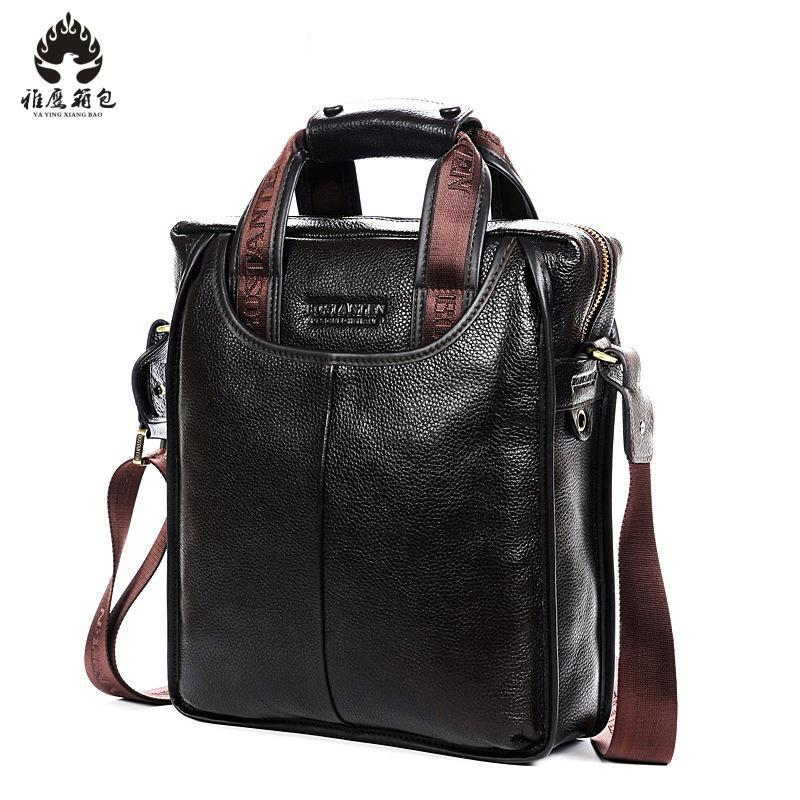 Men Tote Bags Famous Brand New Fashion Man Genuine Leather Messenger Bag Male Cross Body Shoulder Business Bags For Men new casual business leather mens messenger bag hot sell famous brand design leather men bag vintage fashion mens cross body bag